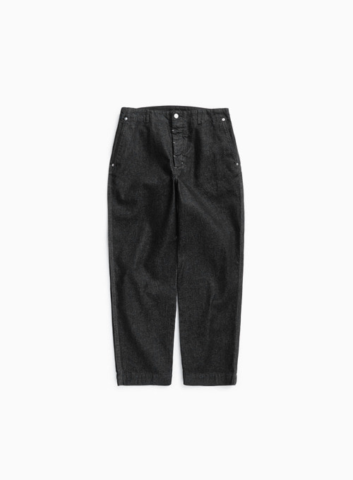 CONTRAST STITCH PANTS (BLACK)