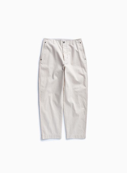 CONTRAST STITCH PANTS (ECRU)