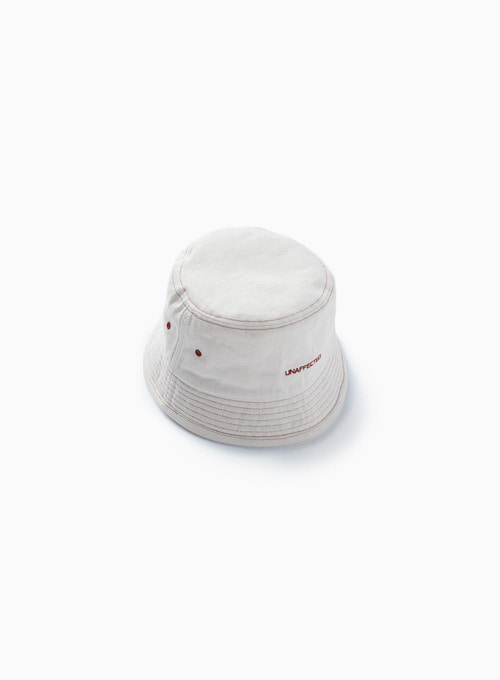 LOGO BUCKET HAT (ECRU)
