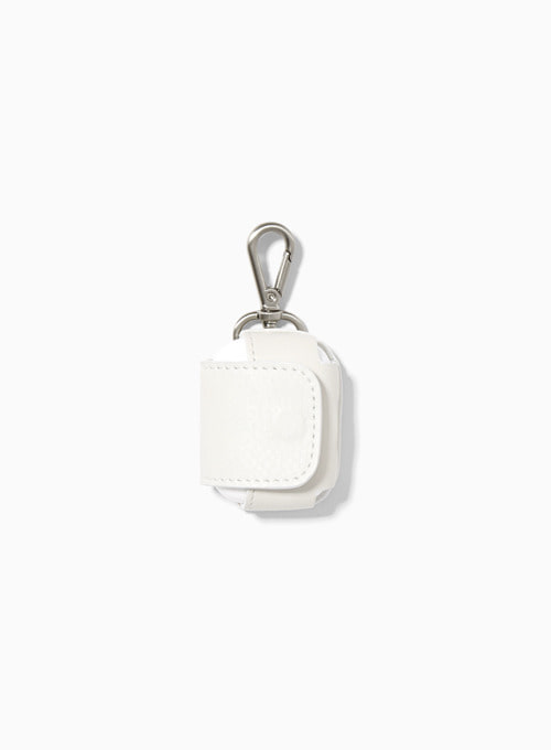 LEATHER AIRPODS CASE PRO (WHITE)
