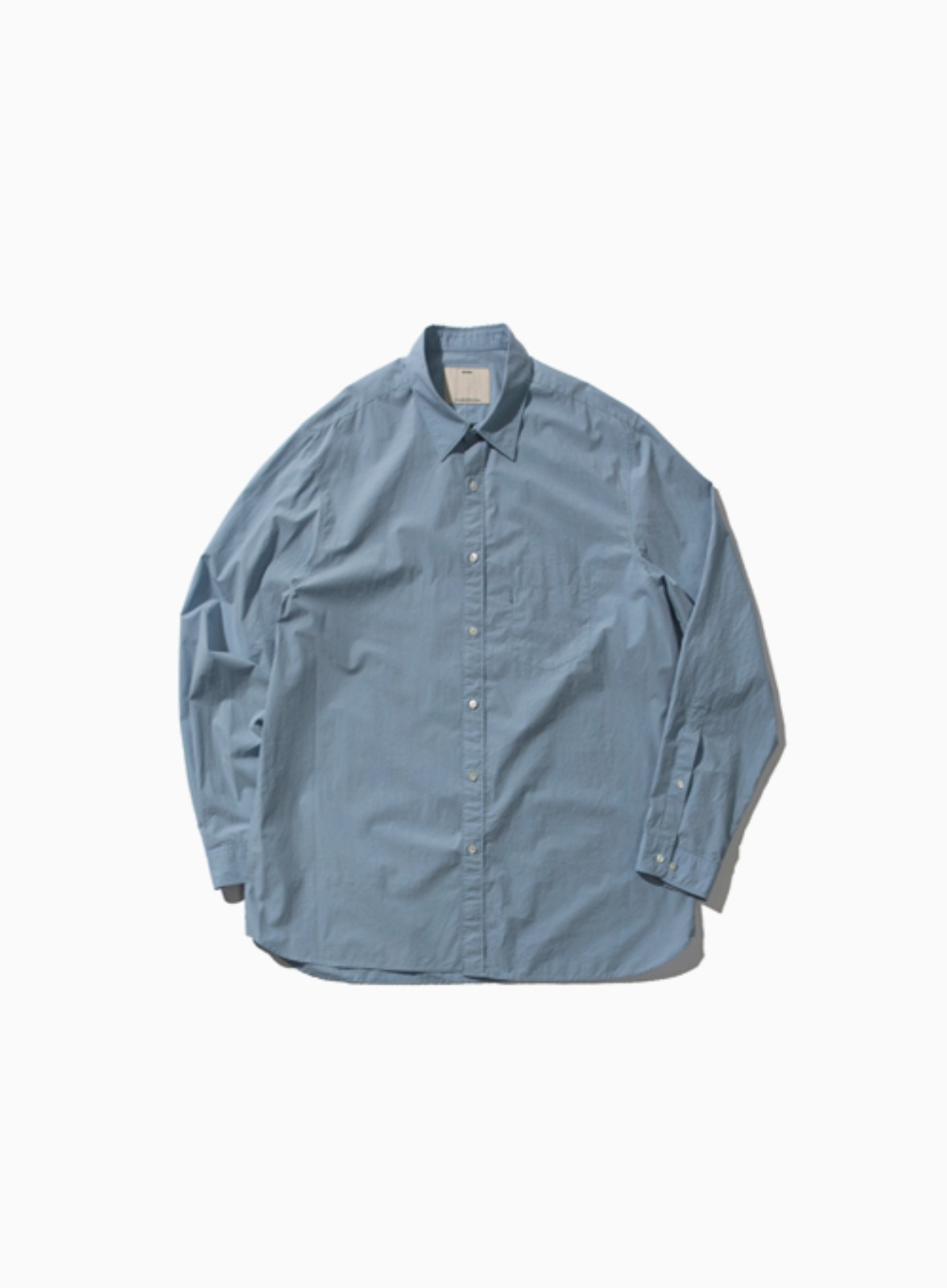 COMFORT SHIRT (BLUE)[COTTON 80/1 TYPEWRITER CLOTH RESILIENT FINISH]
