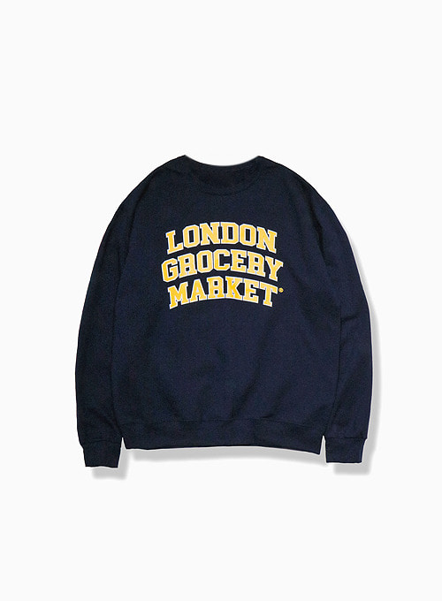 COLLEGE LOGO SWEATSHIRT (NAVY)