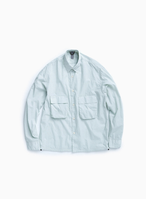 OVERSIZED SHIRT (MISTY MINT)