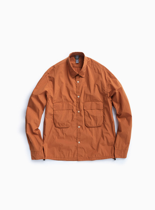 OVERSIZED SHIRT (OCHER ORANGE)
