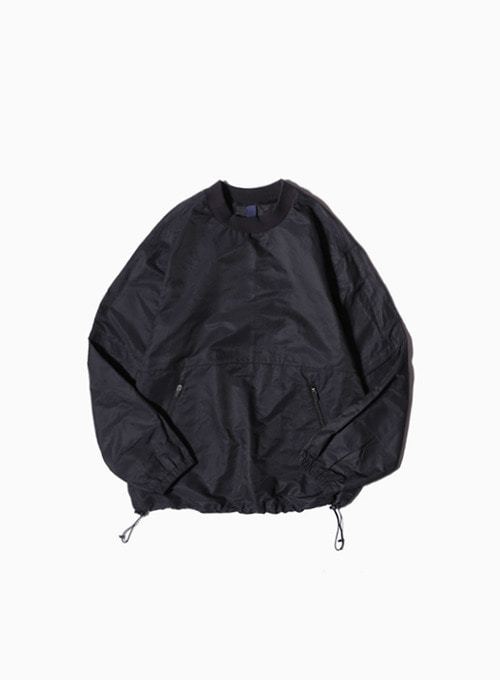 2WAY PULLOVER SHIRT (BLACK)