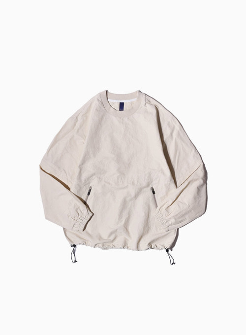 2WAY PULLOVER SHIRT (ECRU)