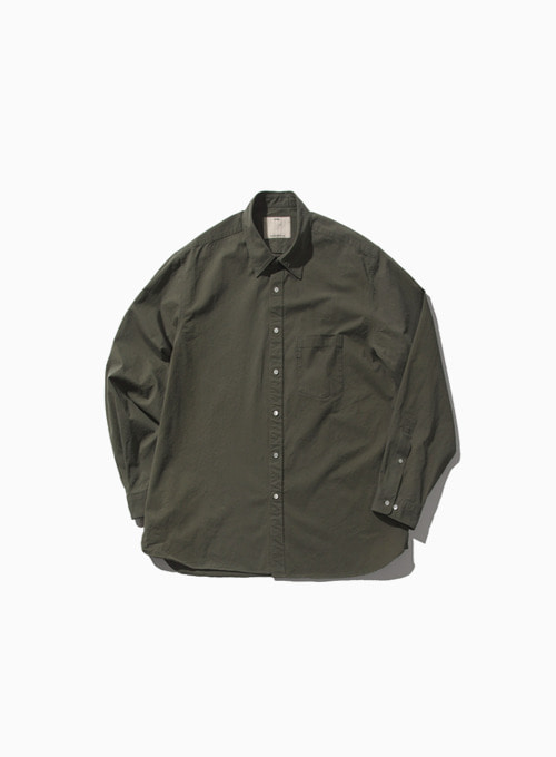 COMFORT SHIRT (OLIVE)[COTTON HIGH DENSITY TWILL NIDOM BIO WASH]