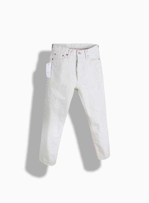 5POCKET ANKLE DENIM WHITE ONE WASH (WHITE)