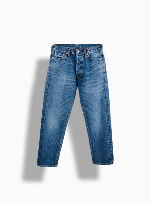 5PKT ANKLE DENIM USED WASH NEW 3YEAR (BLUE)