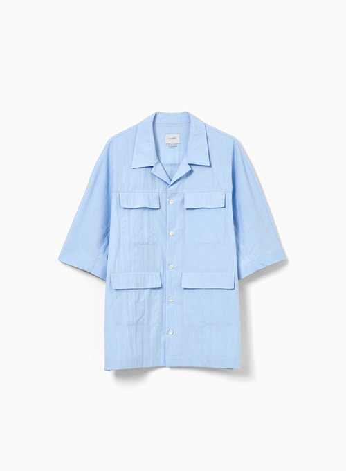 POCKET HALF SHIRT (BLUE)