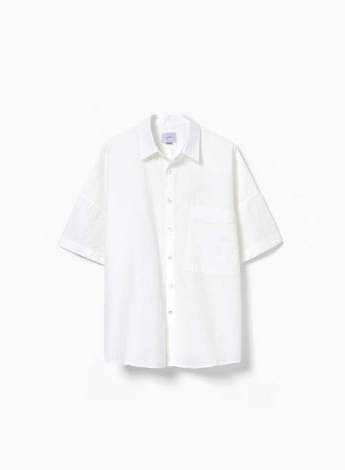 OVERSIZED HALF SHIRT (WHITE)