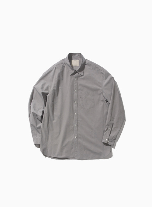 COMFORT SHIRT (GERY)[GENENTIC COTTON 120/2 TYPEWRITER CLOTH KOZEN FINISH]