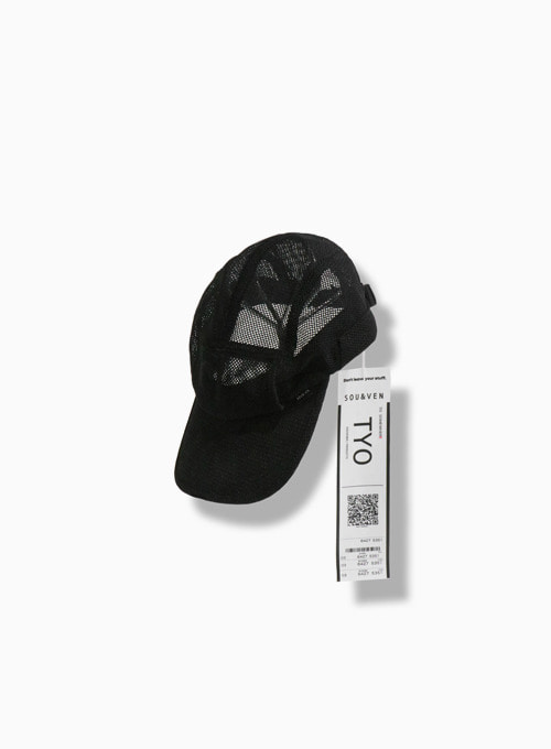 POCKET ABLE NYLON MESH JET CAP (BLACK)