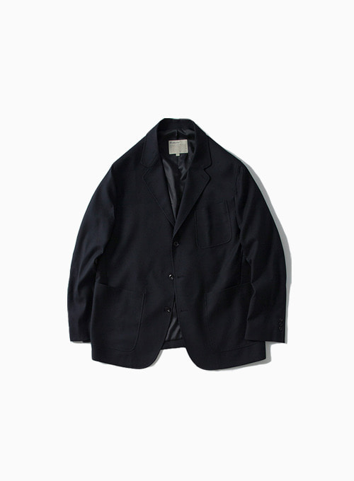 WOOL SPORTS JACKET (NAVY)[BRITISH WOOL GABARDINE]