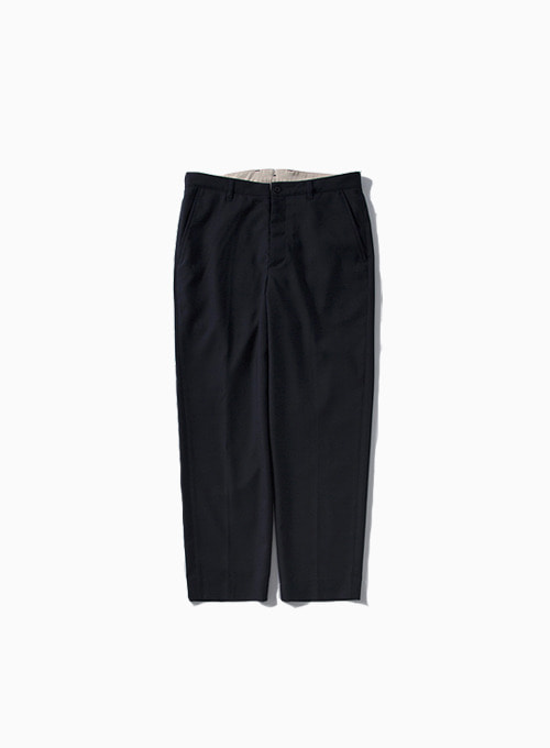 WOOL TAPERED PANTS (NAVY)