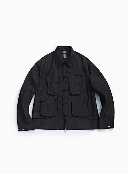 LAYERED FISHERMAN JUMPER (BLACK)
