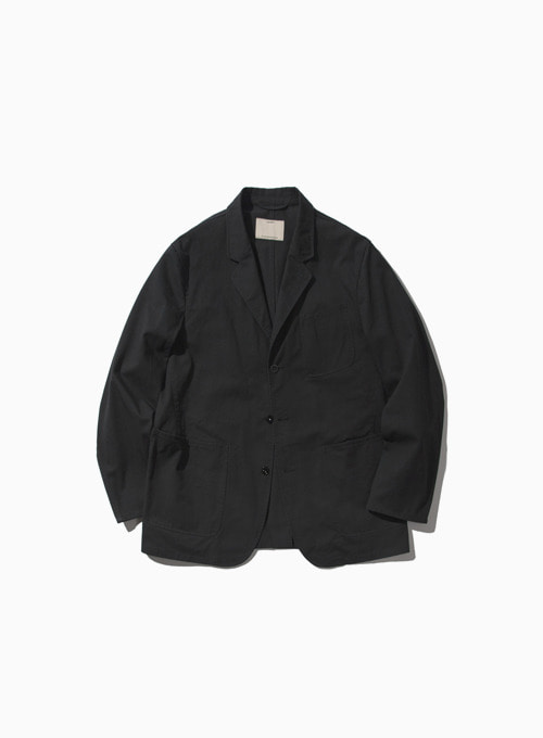 WASHED SPORTS JACEKT (CHARCOAL)[KAYANU COTTON VINTAGE CHINO CLOTH]
