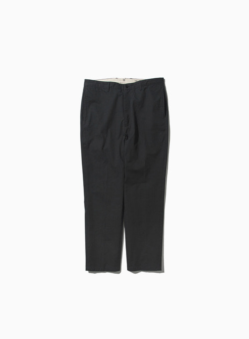 WASHED TAPERED PANTS (CHARCOAL)[KAYANU COTTON VINTAGE CHINO CLOTH]