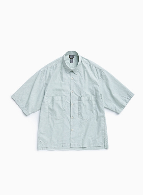 OVERSIZED HALF SHIRT (MISTY MINT)