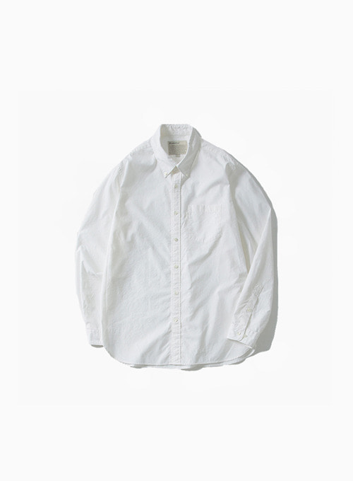 BUTTON DOWN SHIRT (WHITE)[SUPIMA COTTON 80/2 HIGH COUNT OXFORD RESILIENT FINISH]