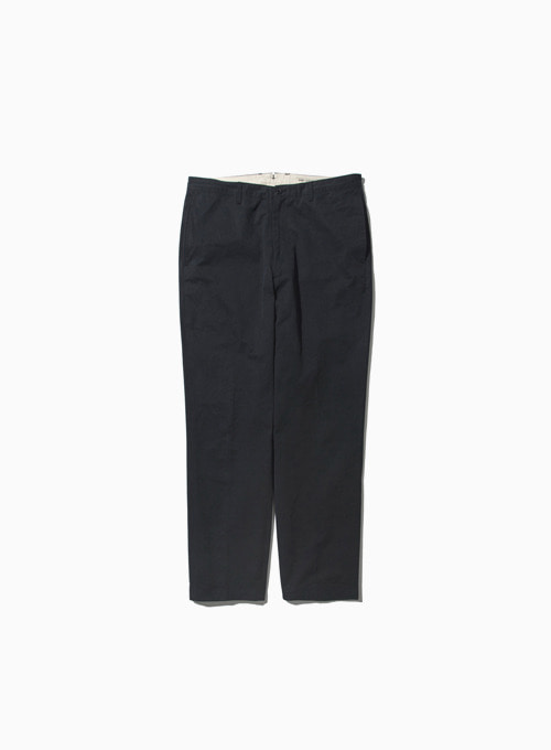 WASHED TAPERED PANTS (NAVY)[COTTON HIGH DENSITY TWILL NIDOM BIO WASH]