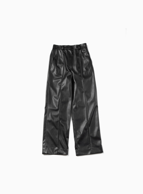 ZERO LEATHER PANTS (BLACK)