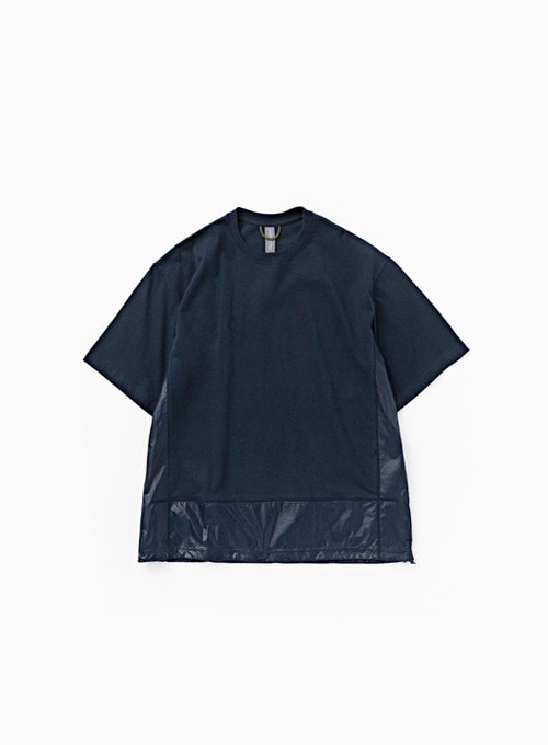 CONTRAST PANEL T-SHIRT (NAVY)