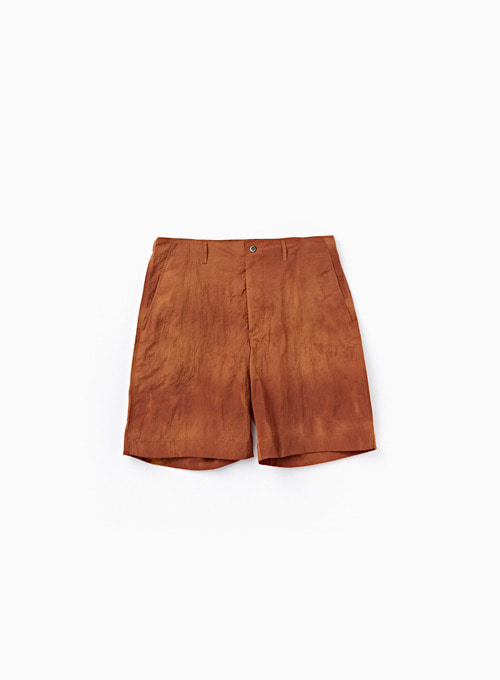CONTRAST STITCH SHORTS (SUNSET ORANGE)