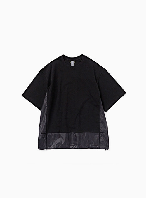 CONTRAST PANEL T-SHIRT (BLACK)