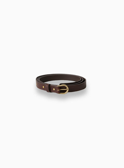 LONG LEATHER BELT (BLACK)