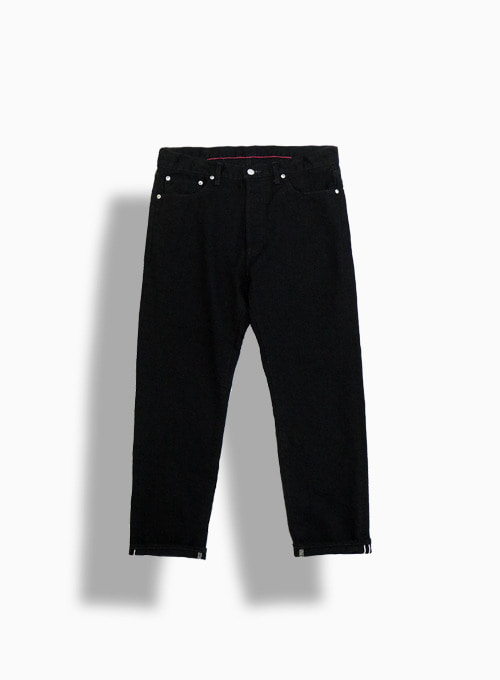 5P ANKLE DENIM ONE WASH (BLACK)