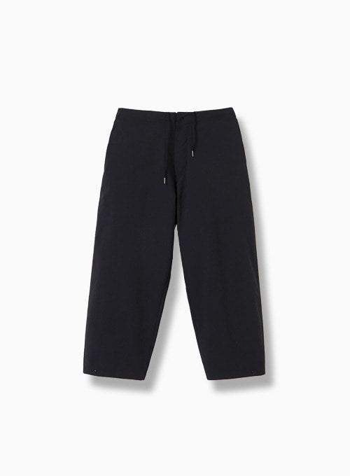 CROPPED WIDE PANTS (BLACK)