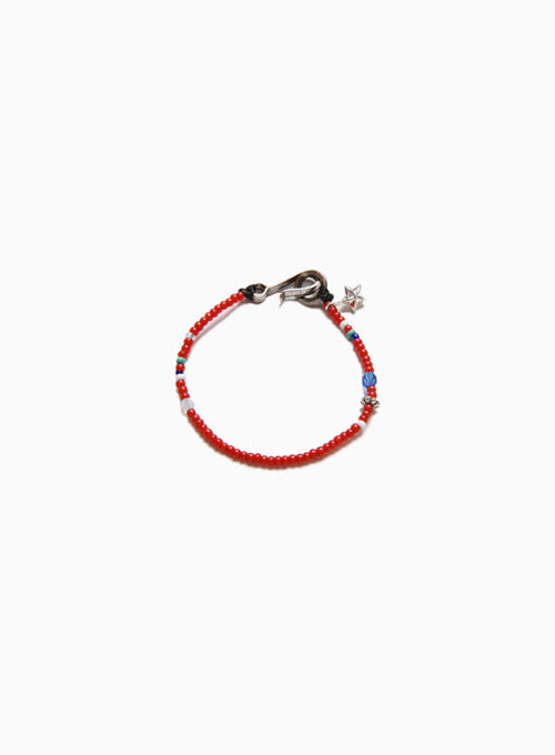 SEED BEADS BRACELET (D-504 : RED)