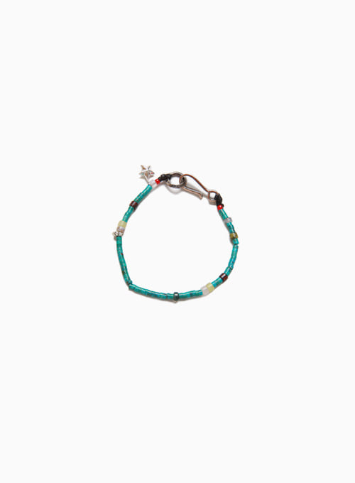 SEED BEADS BRACELET (D-504 : TURQUOISE)