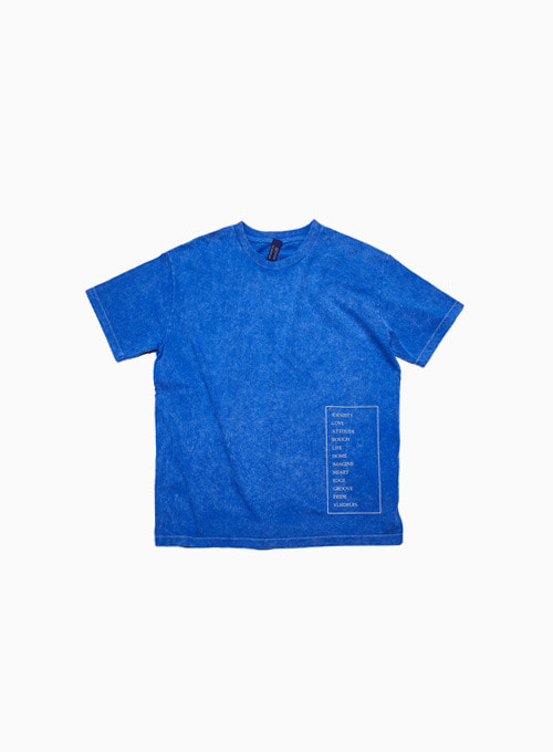 SNOW OVERDYE WORD T (BLUE)