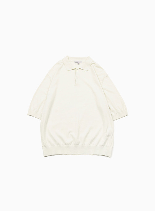 KNIT POLO SHIRTS (IVORY)