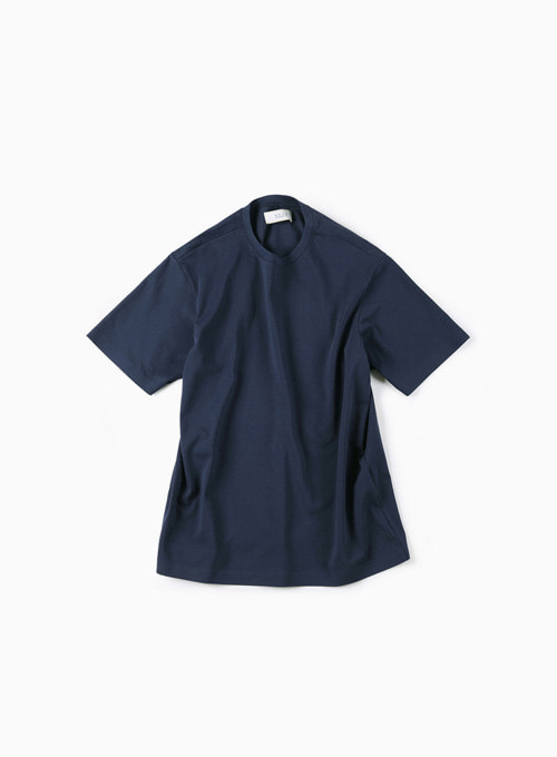 02 SEAMLESS HEM T-SHIRT (NAVY)