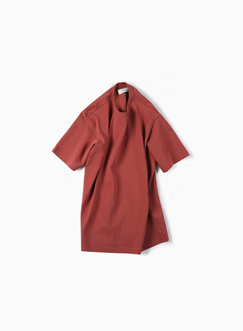 02 SEAMLESS HEM T-SHIRT (BRICK)