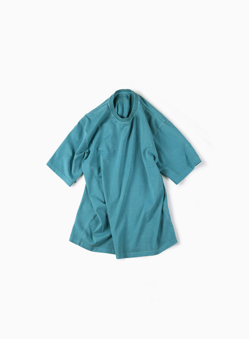 GARMENT DYED T-SHIRT (BLUE GREEN)