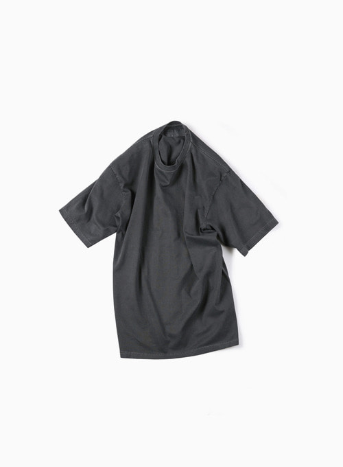 GARMENT DYED T-SHIRT (DARK GREY)