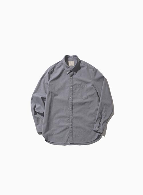 BUTTON DOWN SHIRT (CHARCOAL GRAY)