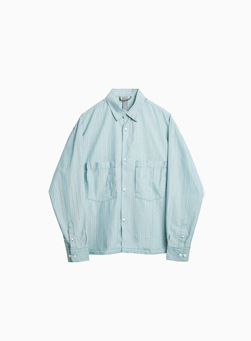 OVERSIZED SHIRT (PALE MINT/BLUE STRIPE)