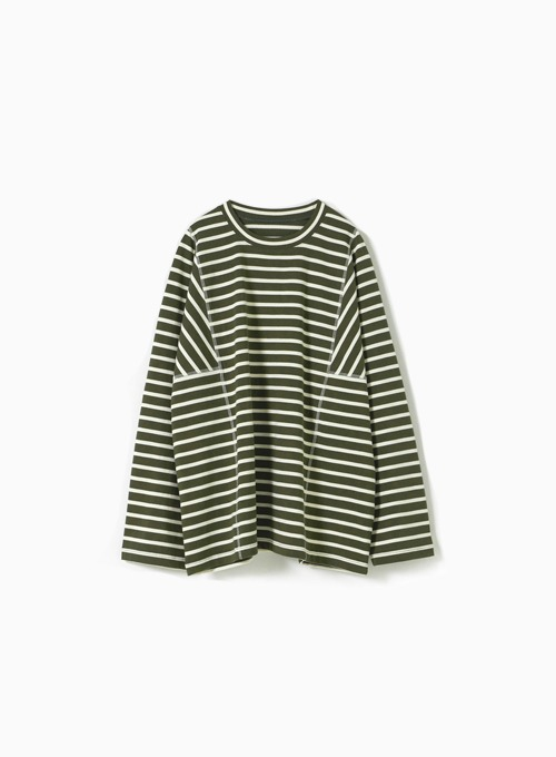 STRUCTURED T-SHIRT (OLIVE/IVORY)