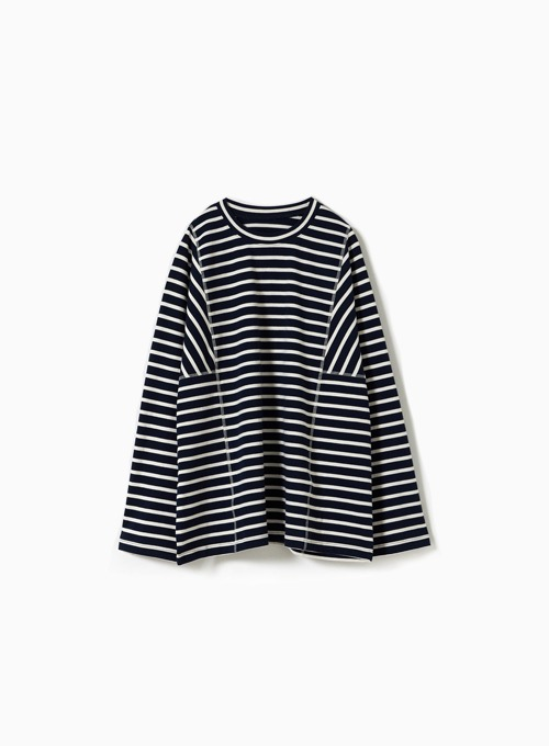 STRUCTURED T-SHIRT (NAVY/IVORY)