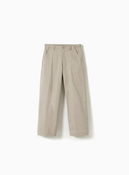WIDE CHINO PANTS (LIGHT BEIGE)