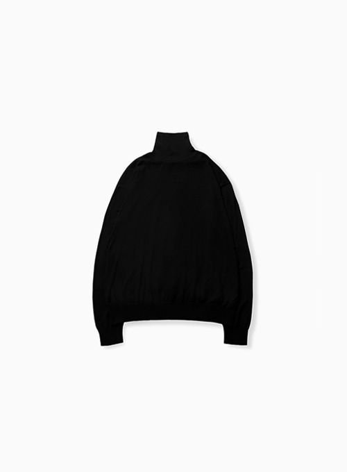 HIGH GAUGE TURTLENECK (BLACK)
