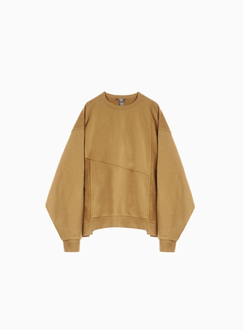 MIXED SWEATSHIRT (CAMEL)