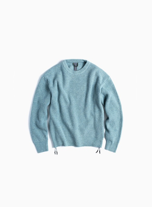 OVERSIZED CREWNECK KNIT (MINT MELANGE)