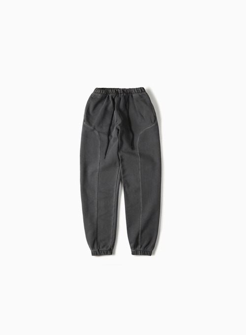 GARMENT DYED SWEATPANTS (DARK GREY)