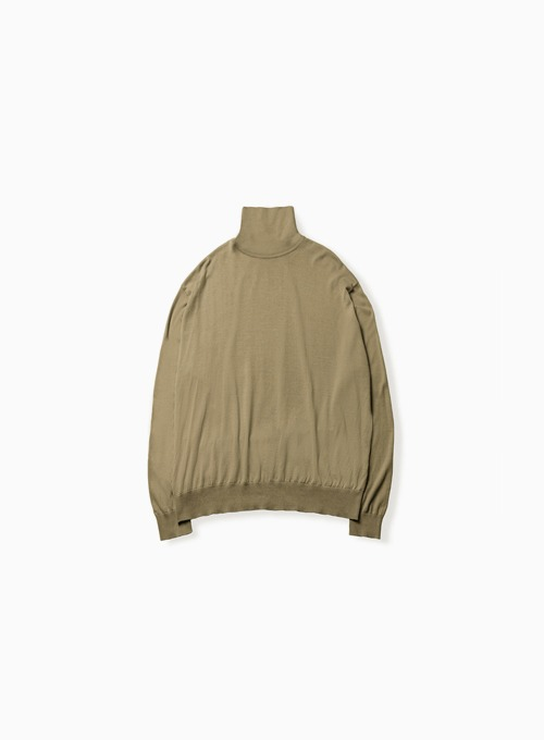 HIGH GAUGE TURTLENECK (DARK BEIGE)